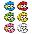 Cartoon clam vector image vector image
