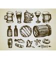 beer elements vector image