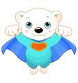 Super Polar Bear vector image vector image