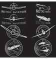 set of grunge vintage labels retro aviaton vector image