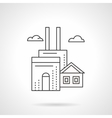 Manufacturing factory flat line icon vector image