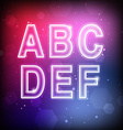 Abstract Font A-F vector image
