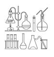 chemical glassware icon vector image