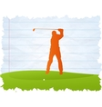 Golf player vector image