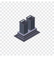 isolated skyscraper isometric tower vector image