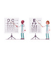 male and female ophthalmology doctor vector image