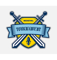 Medieval knight tournament sport logo vector image