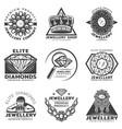vintage monochrome jewelry shop labels set vector image
