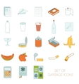 Set of colour garbage signs vector image