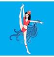 Bright gymnast vector image