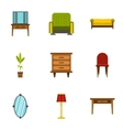 Home environment icons set flat style vector image
