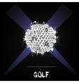 Abstract golf ball of ink blots vector image