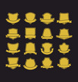 big set of shields with ribbons vector image