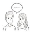 hand drawn talking people design vector image