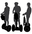Segway Silhouette vector image vector image