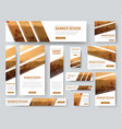 web banners templates with diagonal stripes for vector image