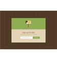 web subscribe ui interface design vector image vector image