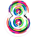 Colorful Number 8 vector image