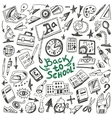 School education - doodles set vector image vector image