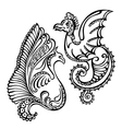 fantasy abstract dragon vector image