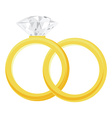 Golden rings vector image