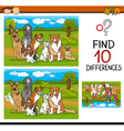 find differences educational task vector image