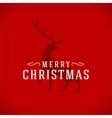 Merry Christmas Greetings Card or Poster Design vector image