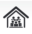 guests house icon vector image