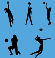 volleyball collection vector image vector image