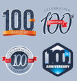 100 Years Anniversary Logo vector image
