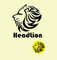 Head Lion Logo vector image