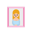 antique lady picture icon vector image