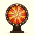cartoon of a glowing wheel vector image