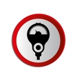 circular contour road sign with parking meter vector image