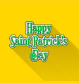 flat saint patricks day typographic label vector image