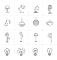 Lamps and lighting devices vector image