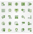 Mobile banking green icons vector image