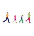 Running family Family sports vector image