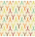 Seamless pattern with scissors vector image
