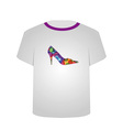 T Shirt Template- Shoe lover vector image