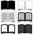 stencils of books vector image vector image