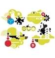 Abstract green icons for your ecological logo vector image
