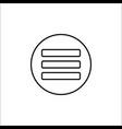 menu line icon mobile sign and hamburger vector image