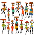 africa girl set vector image
