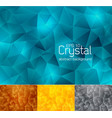 crystal abstract background 3 vector image
