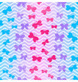 seamless pattern with waves and butterflies vector image vector image