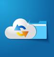 cloud folder files vector image