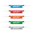 60 percent off paper tag labels vector image