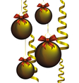 new year and christmas golden decorations vector image vector image