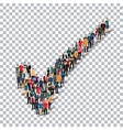 check mark people sign 3d vector image